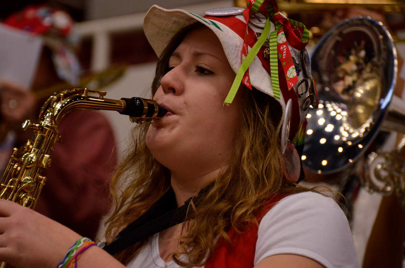 Sax player in the LSJUMB - add her name in a comment if you know it!