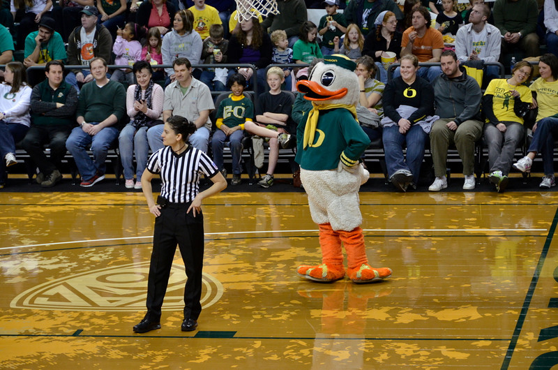 The Duck mocks a referee