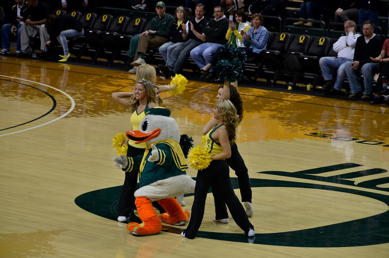 The Duck did the dance routine perfectly
