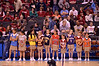 Kids with all team jerseys during formal starting lineup announcement.