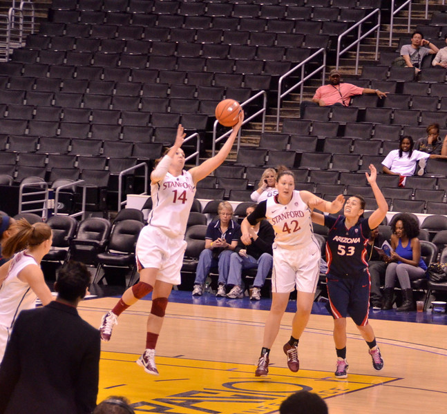 Kayla skies for a rebound.