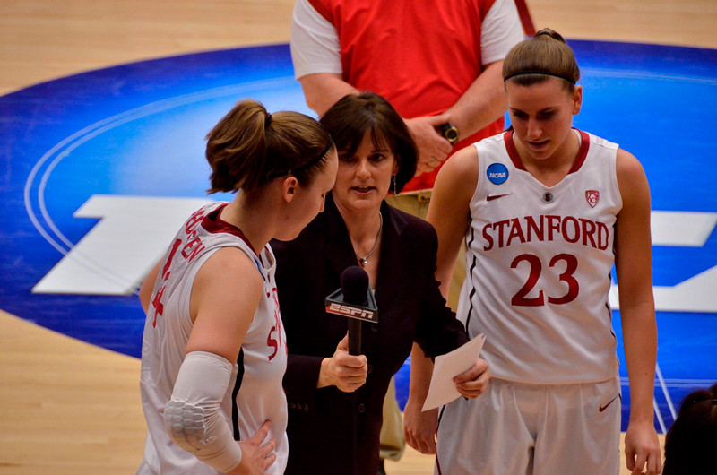 Mary Murphy interviews Kayla and Jeanette after their final game at Maples