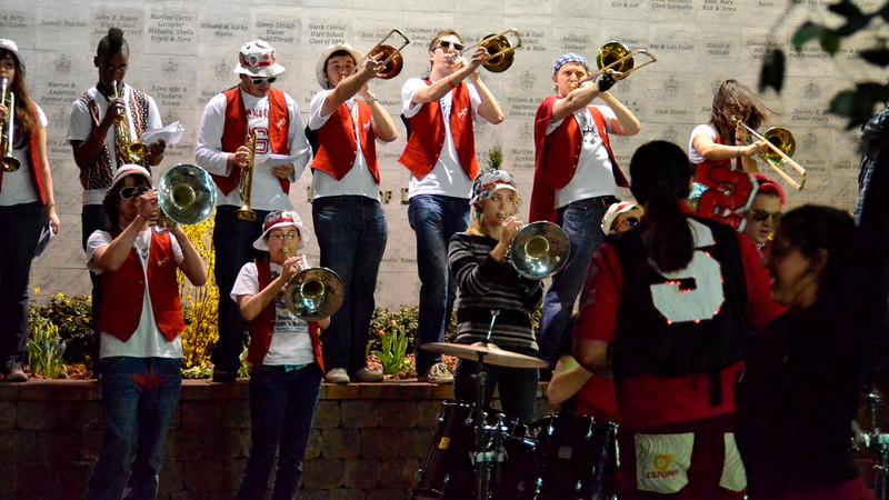 The trombone section had a nice light.
