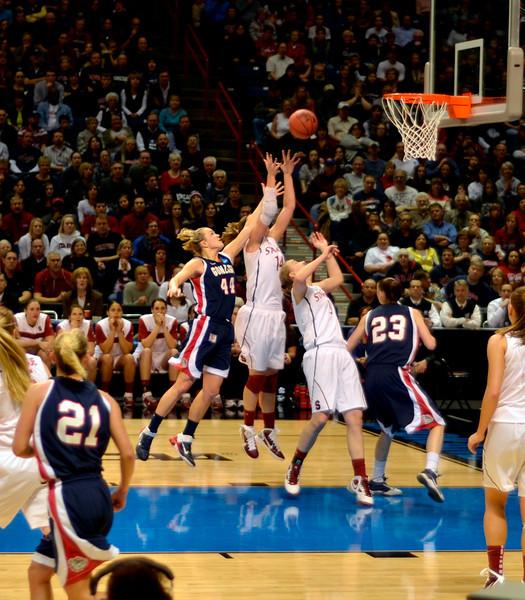 Kayla rebounds.