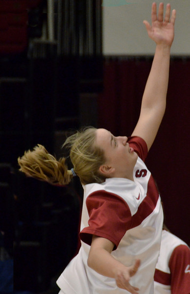 Michaela Reuf had hers going in warmup, too.
