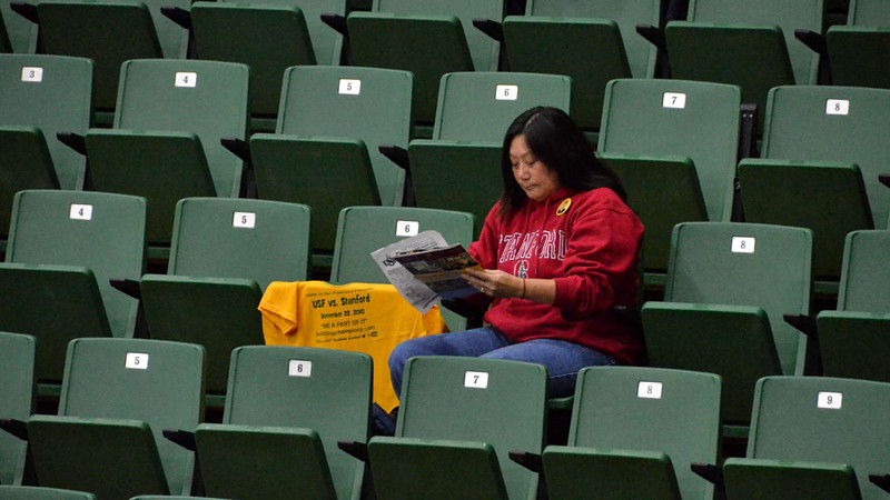 Lily Wong is a season-ticket holder at USF as well as at Stanford.