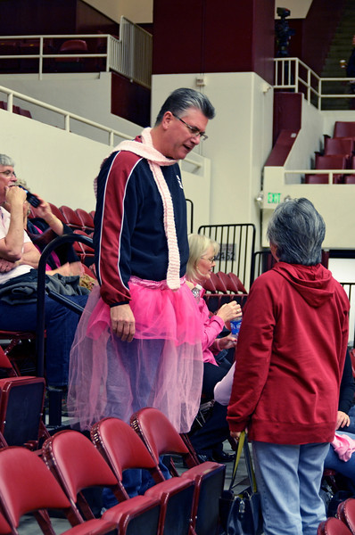 John Pohlen has taken over Joe Appel's pink tutu.