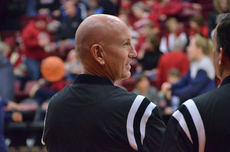 "Pregame faces: Referee ""Captain Picard"" (what's his real name?)"