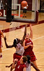 Sarah shoots over Chiney