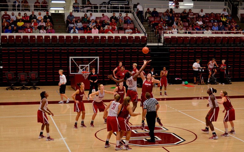 Tip-off for one of the scrimmage games