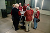 """In the absence of an official """"tent"""" a few FBC members met in the south lobby for a mini-tent"""