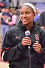 Jasmine Camp was the freshman brought out to introduce herself to the FBC.