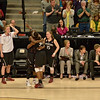 Nneka, Chiney, Lindy hug as Nneka leaves the floor for the last time.