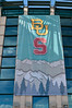 Baylor-vs-Stanford banner outside Pepsi Center