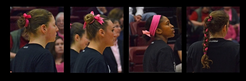 Pink Day: Hair ribbon collage.