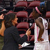 Chiney being interviewed by Mary Murphy after the game.
