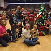 "A group of people brought their service dogs for ""crowd training""."