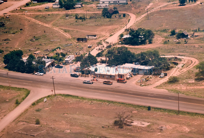 An 1993 aerial photograph of Stanley, New Mexico.