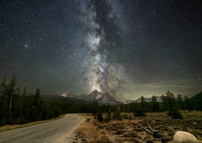 Road to the Sawtooths and the Milky Way