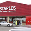 HOLLY PELCZYNSKI - BENNINGTON BANNER Bennington Rural Fire Department responds to Staples in Bennington on Wednesday morning for a leak from the heating system.
