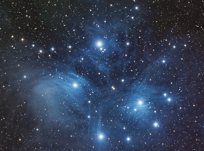 M-45  The Pleiades or The Seven Sisters Open Cluster