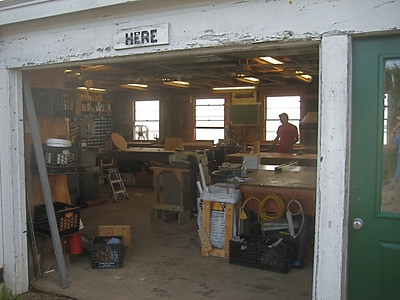 Carpentry Shop  (big improvement from the smaller basement room in 1960's)