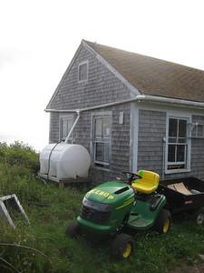Rainwater capture system for Pelican garden.