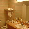 Bathroom, with double sinks and heat lamps
