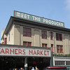 To right of sign, main entrance to market