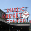 Right outside is the Pike Market sign