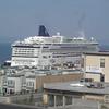 Norwegian Jewel docked downtown