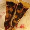 Marionberry tart, split in half - tastes like blackberry