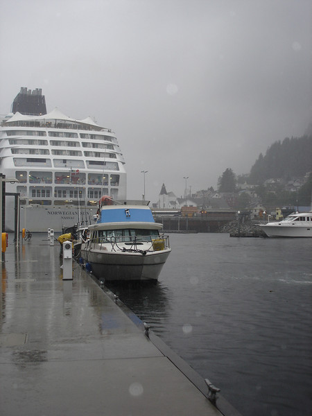 Rainy morning in Ketchikan, waiting for Ken and his boat