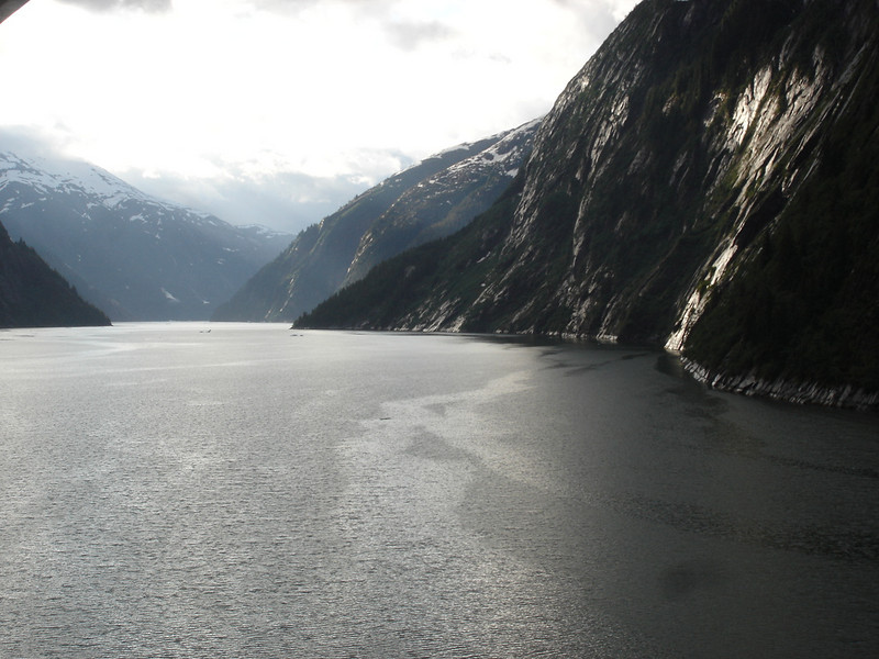 The view at 6am as we're entering Tracy Arm