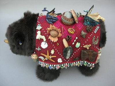 "One of three ""wonder cabinet"" bears"