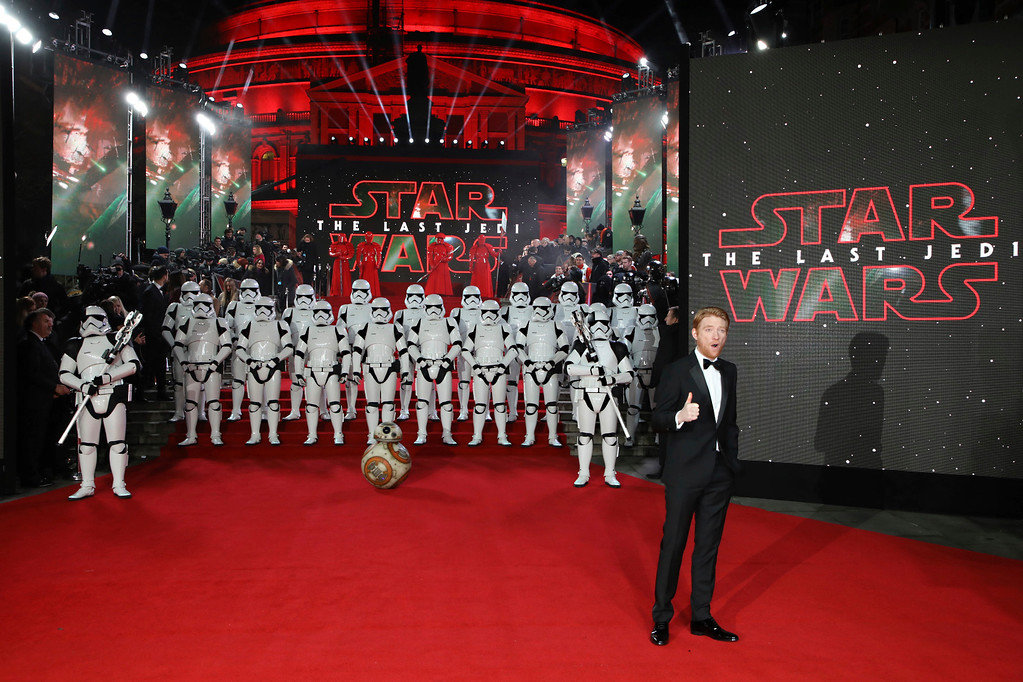 . Actor Domhnall Gleeson poses for photographers upon arrival at the premiere of the film \'Star Wars: The Last Jedi\' in London, Tuesday, Dec. 12th, 2017. (Photo by Vianney Le Caer/Invision/AP)