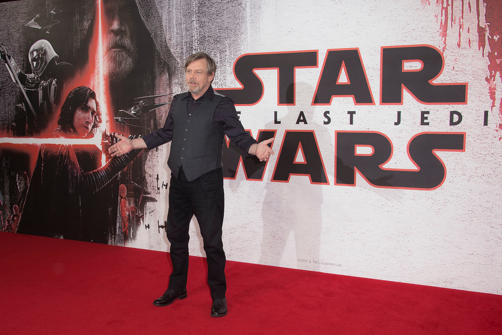 . Mark Hamill poses for photographers at the photo call for the film \'Star Wars: The Last Jedi\' in London, Wednesday, Dec. 13th, 2017. (Photo by Joel C Ryan/Invision/AP)