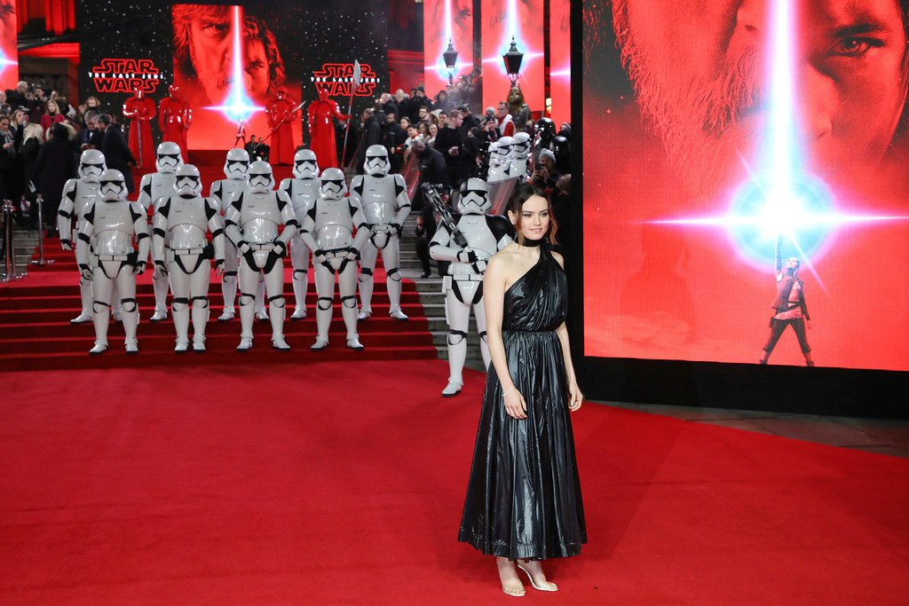 . Actress Daisy Ridley poses for photographers upon arrival at the premiere of the film \'Star Wars: The Last Jedi\' in London, Tuesday, Dec. 12th, 2017. (Photo by Vianney Le Caer/Invision/AP)