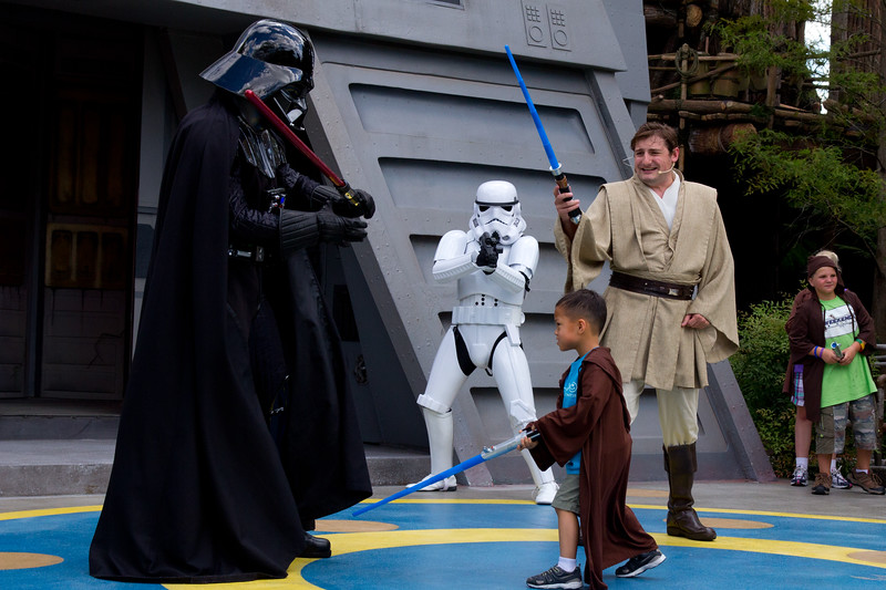 Nicholas facing Darth Vader