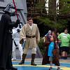 Matthew facing Darth Vader