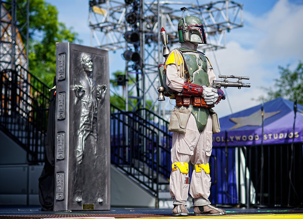 He's no good to me dead.  Star Wars Weekends, Hollywood Studios.