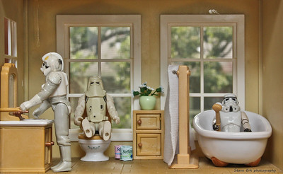 Stormtroopers in the bathroom