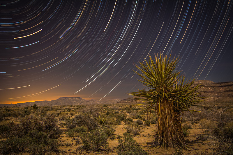 Golden Canyon - Colorful Nights at Mojave National Preserve