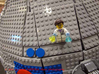Dome detail, Lego R2D2....  chemist on board