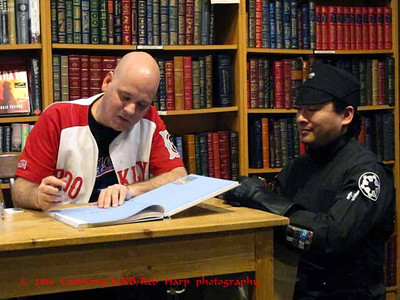 Imperial fan gets his book signed by Jason Fry, the author of LEGO Star Wars: The Visual Dictionary