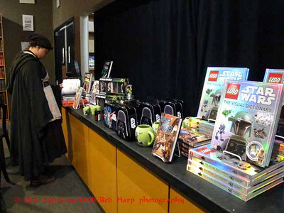 Lots of Star Wars stuff on display for the book signing party.