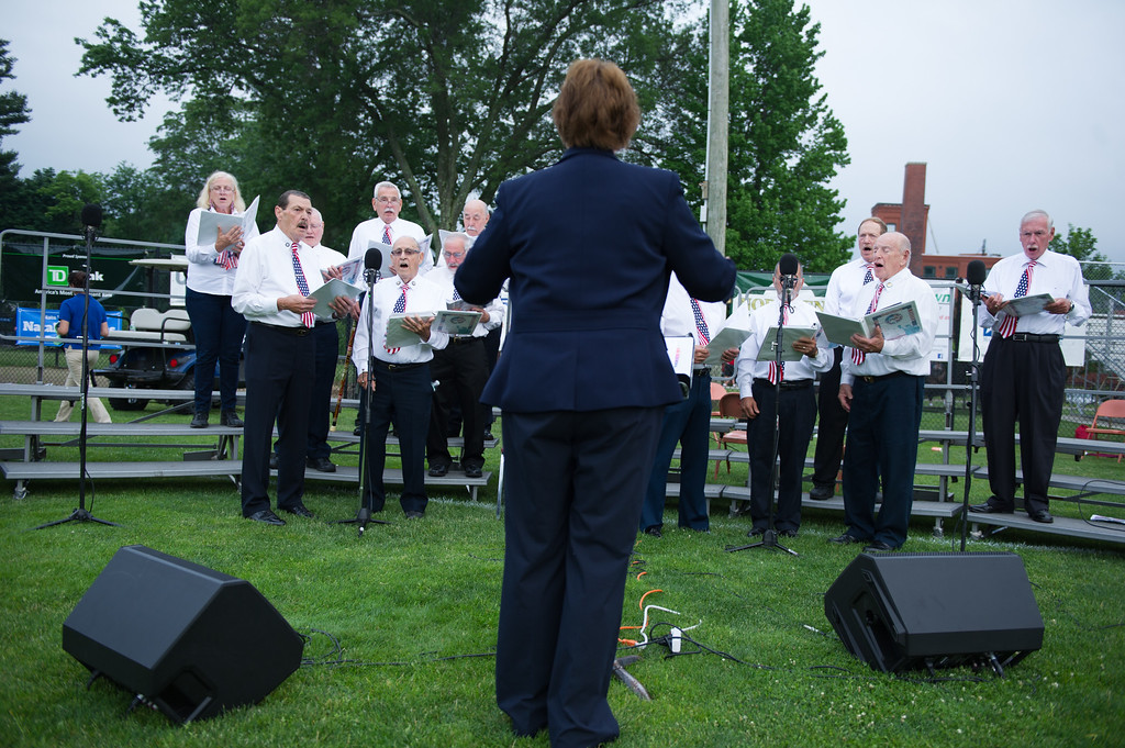 . A performance by the International Veterans Chorus takes place at Starburst 2017 held on Saturday June 17, 2017 at Doyle Field in Leominster.  SENTINEL & ENTERPRISE/JEFF PORTER