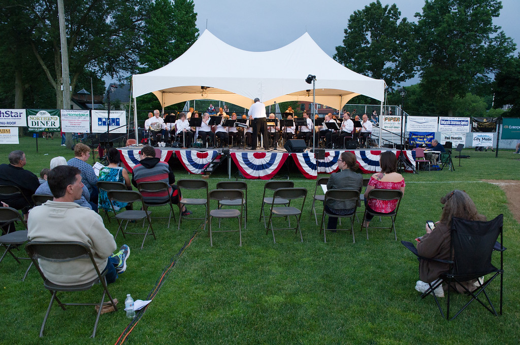 . The Starburst Concert Band plays into the night at Starburst 2017 held on Saturday June 17, 2017 at Doyle Field in Leominster.  SENTINEL & ENTERPRISE/JEFF PORTER