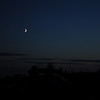 Friday night.  Crescent moon and Venus make a nice show at sunset.<br /> Dave Ledger