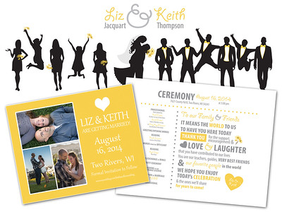 Wedding Program & Save The Date